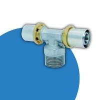 Raccorderia a pressare per tubo PEX e multistrato